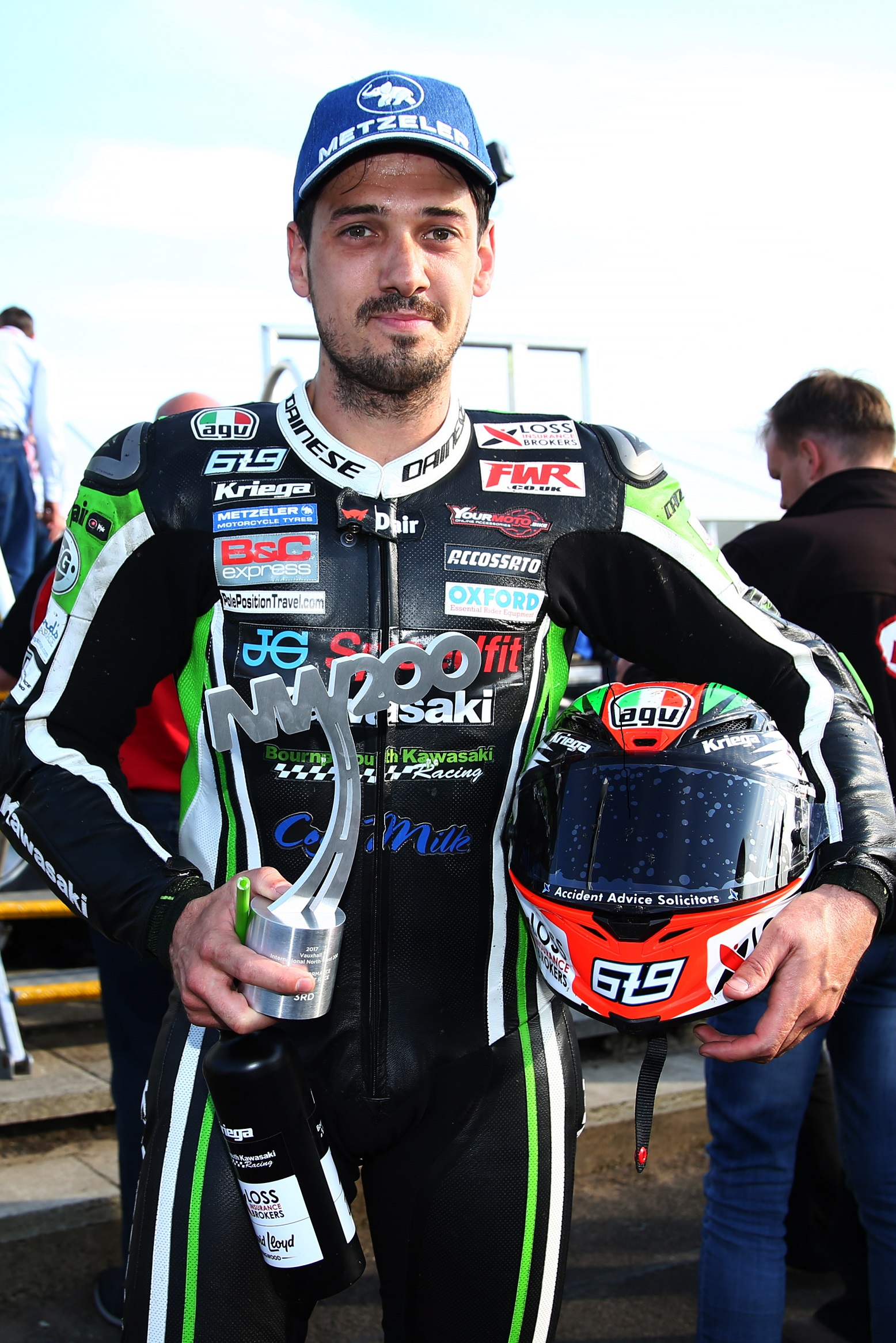 North West 200, Portstewart, Coleraine and Portrush, Northern Ireland. 11th May 2017. James Hillier, Ringwood, JG Speedfit Kawasaki
