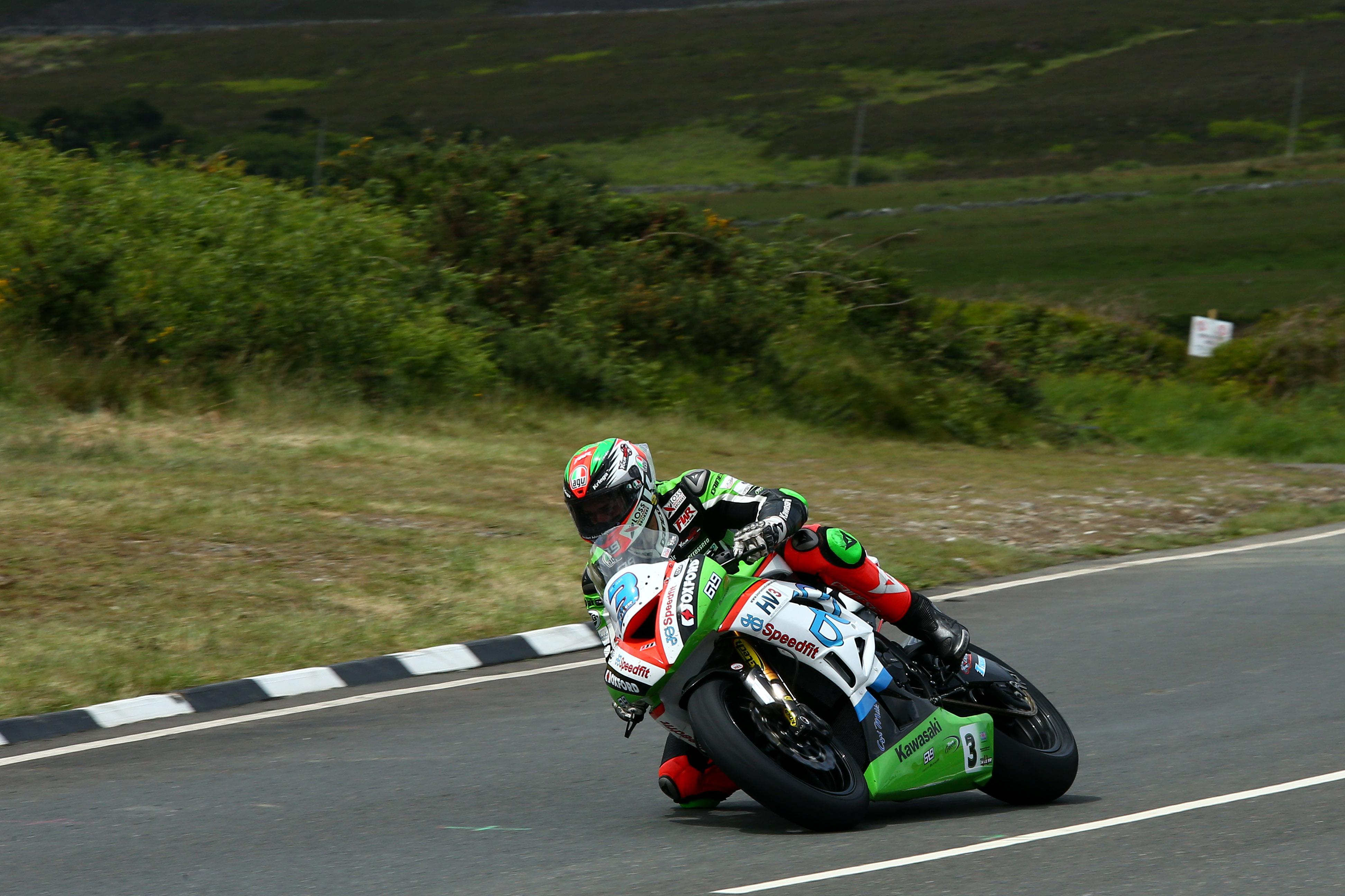 2017 IOM TT, Isle of Man, UK. 4th June 2017. James Hillier, Ringwood, JG Speedfit Kawasaki
